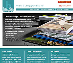 Brandes Printing home page