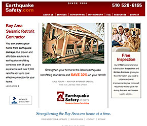 Earthquake Safety home page