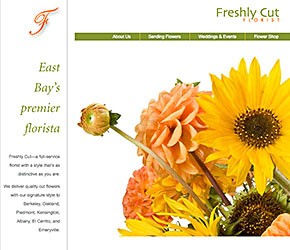 Freshly Cut Florist home page