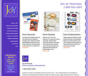 Joy of Printing home page